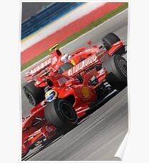 Scuderia Ferrari Marlboro Felipe Massa Brazil F1 Sepang Malaysia Poster