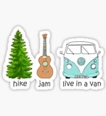 Hike, Jam, Live In A Van Wanderlust Sticker