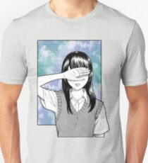 Lonely girl sad aesthetic no text T-Shirt