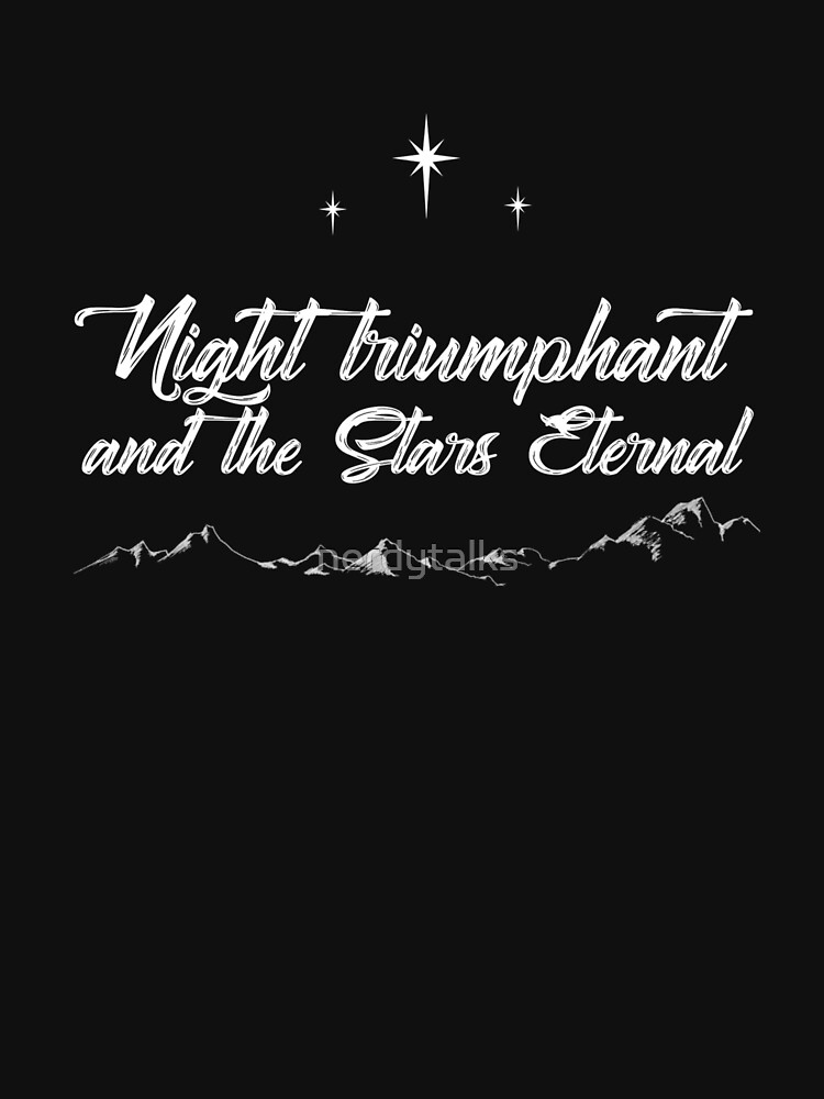 Night Triumphant and Stars Eternal Black (ACOWAR) by nerdytalks