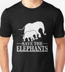 Save the elephants Unisex T-Shirt