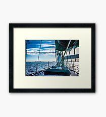 Lakefront Skyline Framed Print