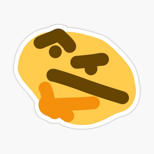 Thonking/Thinking Emoji Sticker