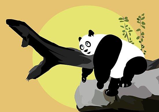 Lazy Panda by Adam Santana