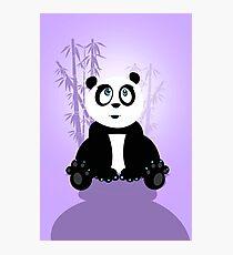Panda Girl - Purple Photographic Print