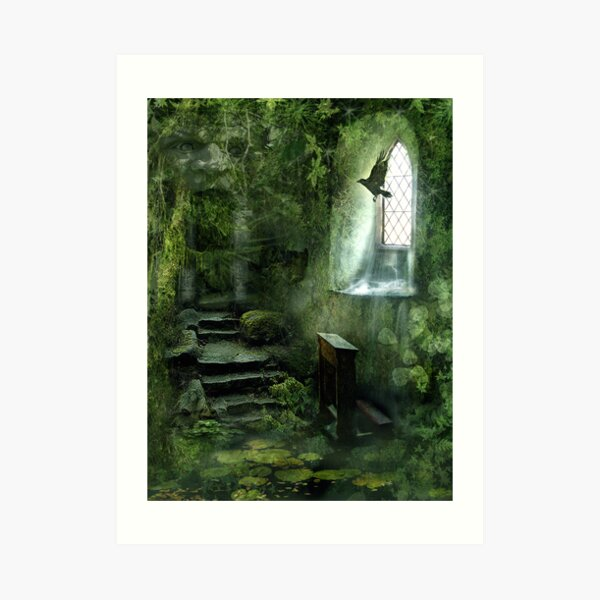 The Chapel in the Woods Art Print