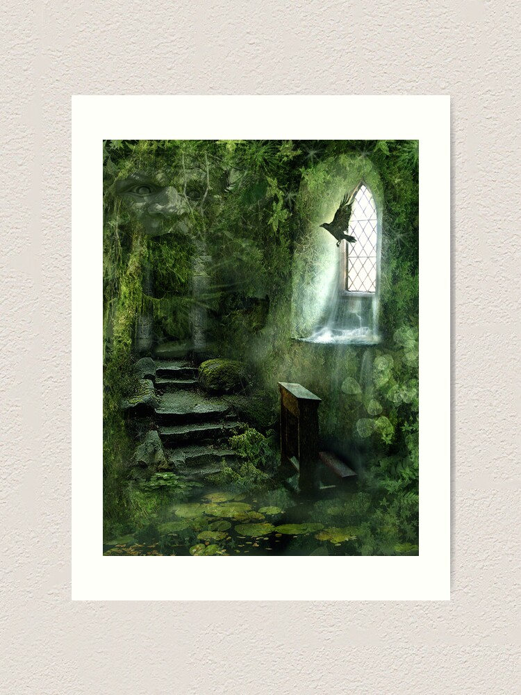 Alternate view of The Chapel in the Woods Art Print
