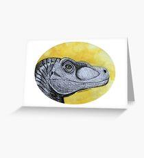 Velociraptor Study Greeting Card