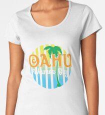 Oahu Waimea Bay Hawaii Women's Premium T-Shirt