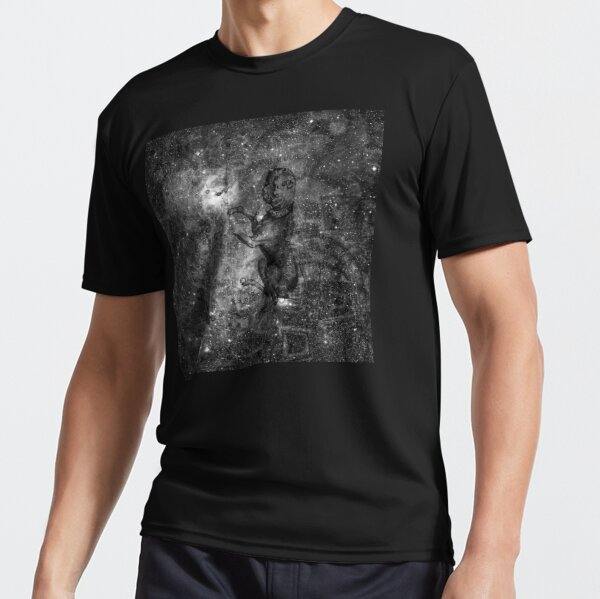 When The Stars Are Right - The Seagull Nebula In Canis Major (b&w version) Active T-Shirt