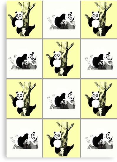 Pandas Checker - Yellow by Adam Santana
