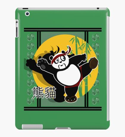 Martial Arts Panda - Green iPad Case/Skin