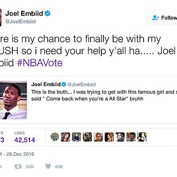 Joel Embiid - Chance to Be With My Crush by TeeTweets
