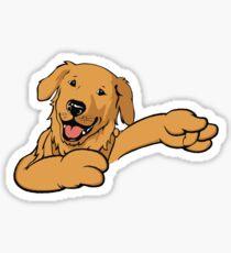 Dabbing Dog Shirt Sticker