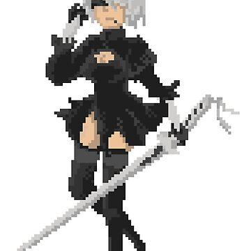 Pixel Nier - 2B by Tande