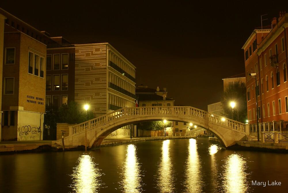 Venice at Night #4 by Mary Lake