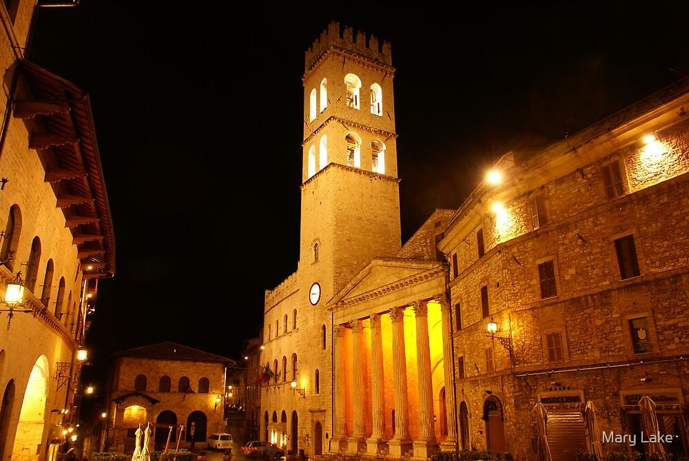 Assisi at Night #2 by Mary Lake