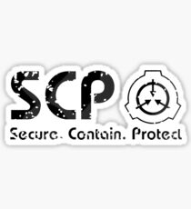SCP - SECURE ⚫ CONTAIN ⚫ PROTECT  Sticker