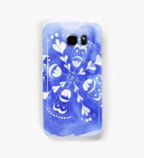 Blue Patterned Phone Cover Samsung Galaxy Case/Skin