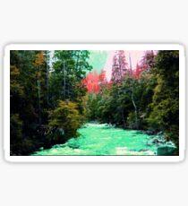 Yosemite Forested River Sticker