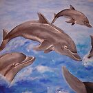 A Pod of Playful Jumping Dolphins by taiche