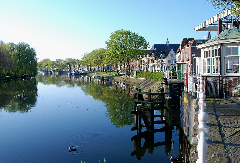 A small town at the River Vecht by jchanders