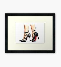 Designer shoes Framed Print