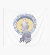 Art Nouveau Wolf Wall Tapestry