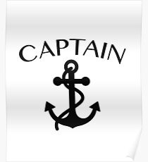Captain of The Sea Sailing Boating Cruising Poster