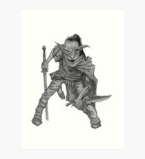 Goblin warrior Art Print