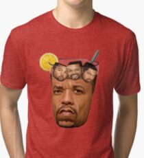 Ice T and Ice Cube is a Cold Drink Water Tri-blend T-Shirt