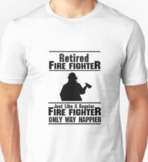 Firefighter Fire Man Chief Funny Unisex T-Shirt