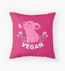 Happy Pink Piglet - Vegan Throw Pillow