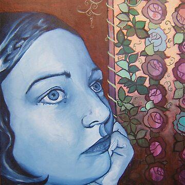 "self portrait- ""The DayDreamer"" by ladybirdworks"