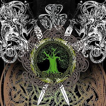 Celtic Tree Illuminated II by IceFaerie