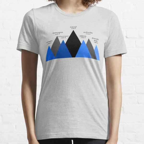 The Seven Mountain Summits Essential T-Shirt