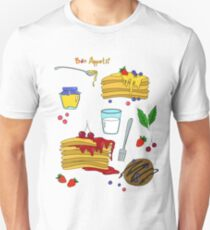 pancakes with jam and honey Unisex T-Shirt