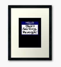 "Fight Club- ""I AM JACK'S SMIRKING REVENGE"" Framed Print"