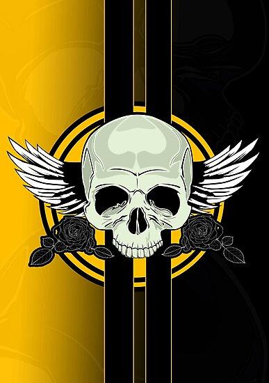 Wing Skull - YELLOW by Adam Santana