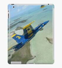 An F/A-18 Hornet of the Blue Angels flies over the Florida Keys. iPad Case/Skin