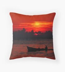 Red Sky - Blue Hope Throw Pillow
