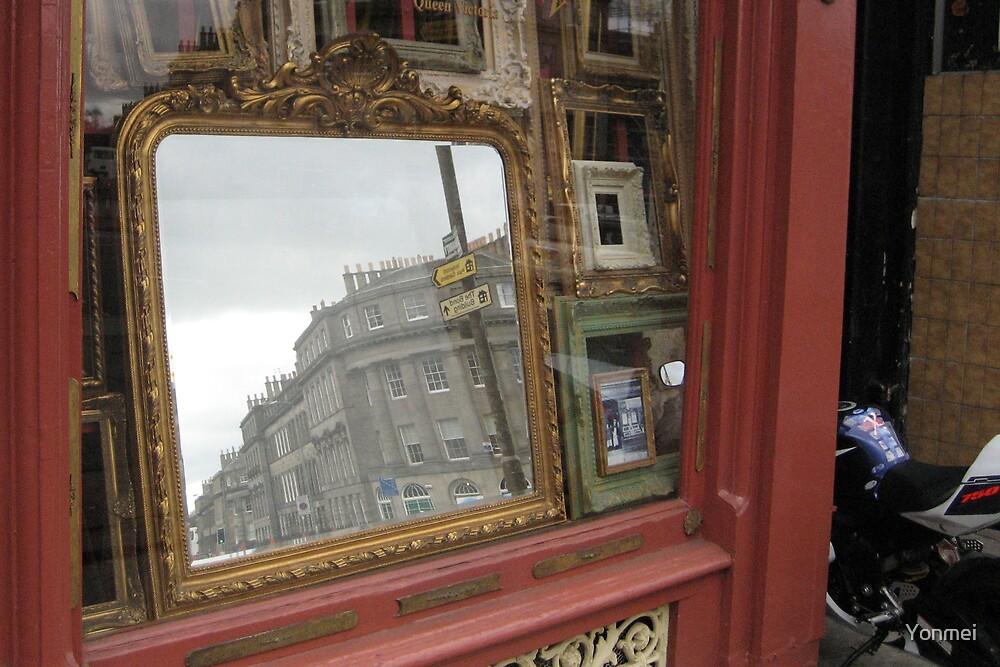 Street in a mirror by Yonmei