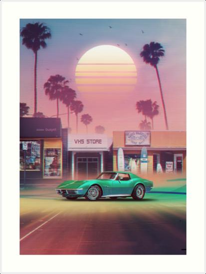«Synthwave Sunset Drive» de dennybusyet