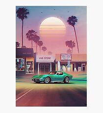 Lámina fotográfica Synthwave Sunset Drive
