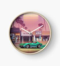 Synthwave Sunset Drive Clock
