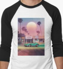 Synthwave Sunset Drive Men's Baseball ¾ T-Shirt