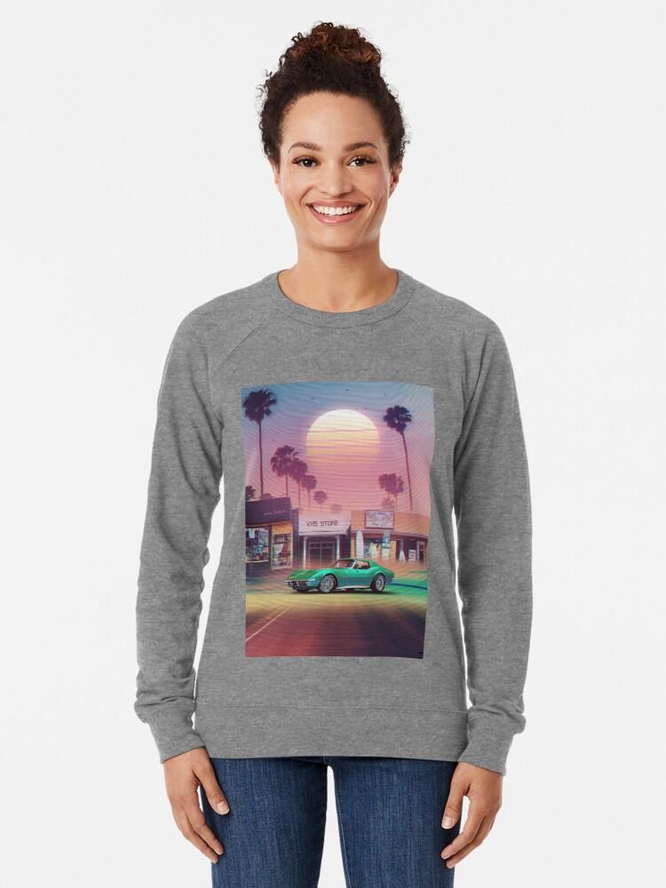Vista alternativa de Sudadera ligera Synthwave Sunset Drive
