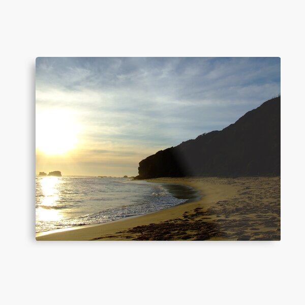 suns getting low at Fingal beach Metal Print