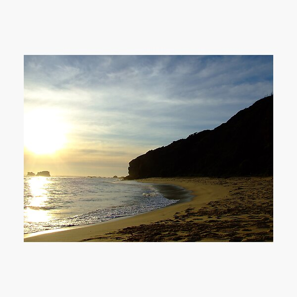 suns getting low at Fingal beach Photographic Print