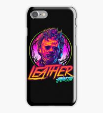 Leather Face Neon iPhone Case/Skin